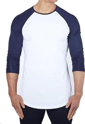 ZESTEEZ Solid Men Round Neck White T-Shirt