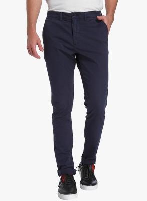 Jack & Jones Slim Fit Men Blue Trousers