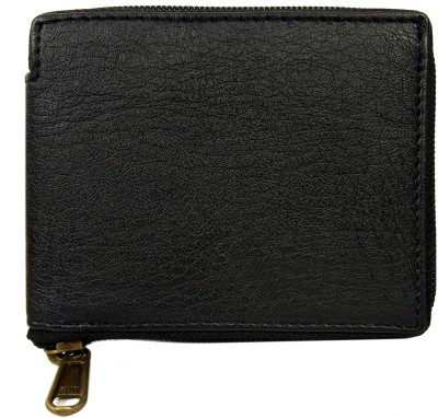 First Man Men Black Artificial Leather Wallet 4 Card Slots First Man Wallets