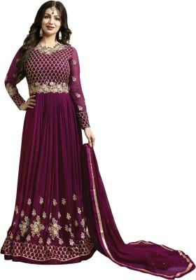 507272c2881f 59% OFF on Jiva Faux Georgette Embroidered Semi-stitched Salwar Suit  Dupatta Material on Flipkart | PaisaWapas.com