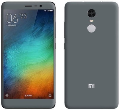 Cover Up Back Cover for Mi Redmi Note 4(DarkGrey, Grip Case, Plastic)