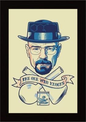 03e4ae4b1bd Posterskart Heisenberg   I Am The One Who Knocks  Breaking Bad Framed  Poster Paper Print