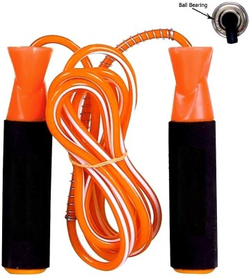 Woody PRO Gym Fitness Skipping Rope for Men, Women, Weight Loss, Kids, Girls, Adult - Best in Sports, Exercise, Workout, with Foam Handle (Orange) Freestyle Skipping Rope(Orange, Pack of 1)  available at flipkart for Rs.149