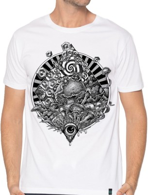 Dorje Printed Men Round Neck White T-Shirt