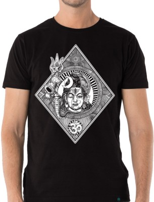 Dorje Printed Men Round Neck Black T-Shirt