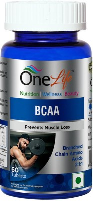 OneLife BCAA (Branched Chain Amino Acid) to prevent muscle loss(60)  available at flipkart for Rs.855