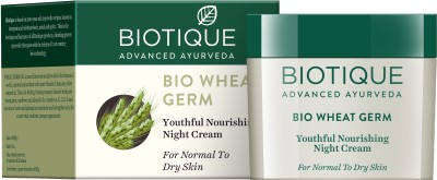 Biotique Wheatgerm Youthful Nourishing Night Cream For Normal To Dry Skin (50gm)