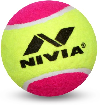 Nivia Cricket Tennis Ball Tennis Ball(Pack of 12, Multicolor)  available at flipkart for Rs.849