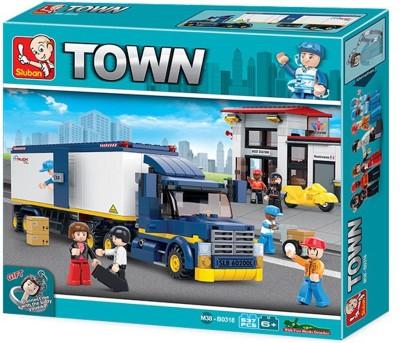 Sluban Heavy Duty Van Truck, Multi Colour Multicolor Sluban Blocks   Building Sets