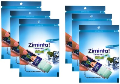 Zimlaboratorieslimited Mouth Freshener Orally Disintegrating Strips ( Sugar Free ) - 30 Strips (Mint Flavour) - Pack Of 6. Strip(30 g)