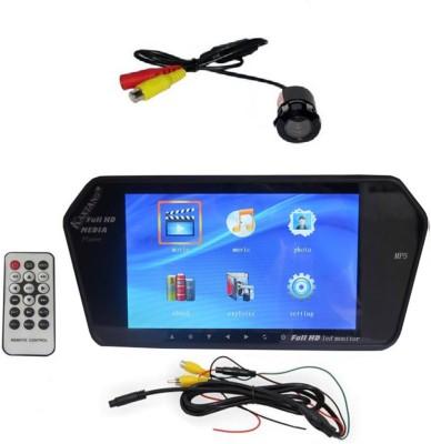 Kaxtang 7inch Car Bluetooth LED TFT, BT, USB, MP3, MP4, MP5 Player with Rear View Camera Monitor Black LED(18 cm)