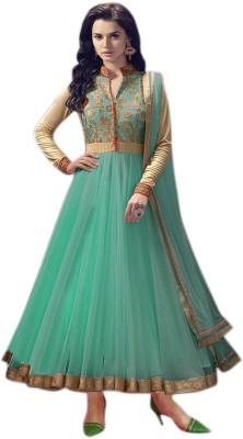 HOLARA SAREE Net Self Design, Embroidered Semi-stitched Salwar Suit Dupatta Material