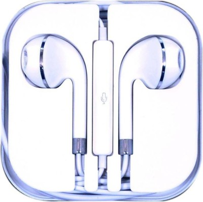 GAZZET Earphone with Mic BLACK In Ear Wired Earphones With Wired Headset without Mic(White, Wireless in the ear)