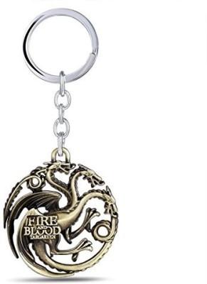 Marvel Game of Thrones House Targaryen Blood fire 3D Brass Metal Keychain Car Bike Key Chain  available at flipkart for Rs.169