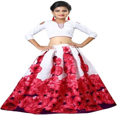 86bc41019398 62% OFF on F Plus Fashion Girl's Lehenga Choli Party Wear Printed Lehenga  Choli(Pink, Pack of 1) on Flipkart | PaisaWapas.com