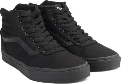 39ef95cc1b5 30% OFF on Vans Ward Hi Sneakers For Men(Black) on Flipkart ...
