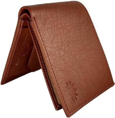 Ray Way Men Formal Tan Artificial Leather Wallet(4 Card Slots)