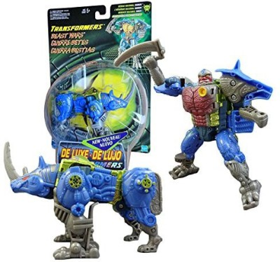 Generic Hasbro Year 1999 Transformers Beast Wars Series Deluxe Class 6 Inch Tall Robot Action Figure - Heroic Maximal RHINOX Horn Sword (Beast Mode: Rhino)(Multicolor)