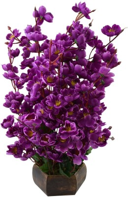 Sofix Artificial Flower With Pot Orchid Blossom Home Decor Flowers - 16 inch/40cm Purple Orchids Artificial Flower  with Pot(16 inch, Pack of 1) at flipkart
