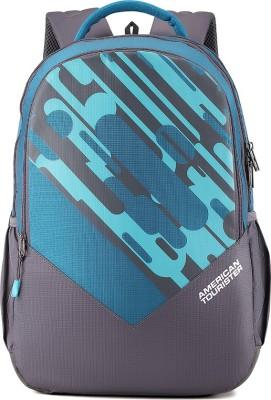 American Tourister Mist Sch Bag 29 L Backpack(Blue, Grey)