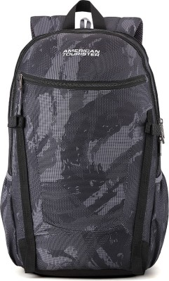 American Tourister Pulse Sch Bag 27.5 L Backpack(Black, Grey)