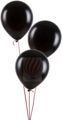 YNS Crafts Stock Solid Crafts stock _163-25 Balloon(Black, Pack of 25)