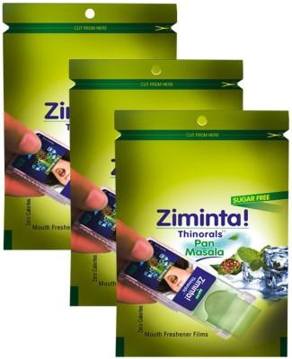 Ziminta Mouth Freshener Orally Disintegrating Strips ( Sugar Free ) - 30 Strips (Pan Masala Flavour) - Pack Of 3 Strip(30 g)