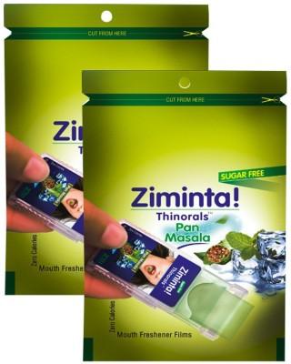 Ziminta Mouth Freshener Orally Disintegrating Strips ( Sugar Free ) - 30 Strips (Pan Masala Flavour) - Pack Of 2 Strip(30 g)