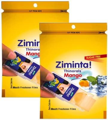 Ziminta Mouth Freshener Orally Disintegrating Strips ( Sugar Free ) - 30 Strips (Mango Flavour) - Pack Of 2 Strip(30 g)