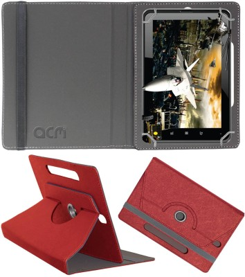 ACM Book Cover for Fujezone Smart Tab A200(Red, Cases with Holder)