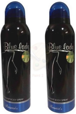 Blue Lady BLACK Body Spray  -  For Women(200 ml, Pack of 2)  available at flipkart for Rs.599