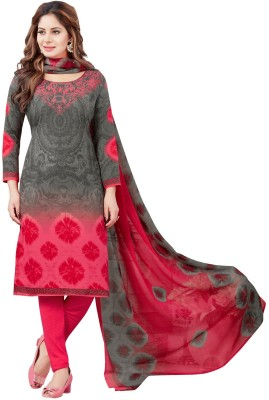 Muhenera Synthetic Printed Salwar Suit Dupatta Material(Un-stitched)