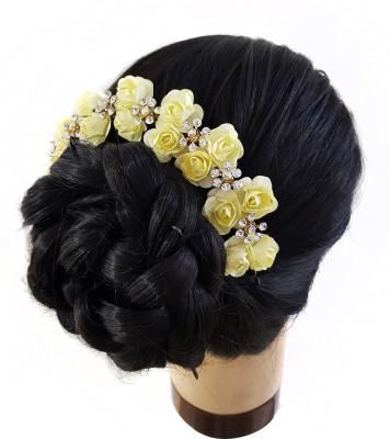 Majik Hair Gajra Juda Accessories For Wedding Girls Hair Accessory Set(Yellow) Flipkart