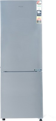 Haier 256 L Frost Free Double Door Bottom Mount 3 Star Refrigerator(Shinny Steel, HRB-2763CSS-E)
