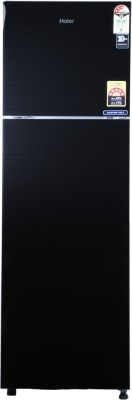 Haier 278 L Frost Free Double Door Top Mount 3 Star Refrigerator(Black, HRF-2983CKG-E)