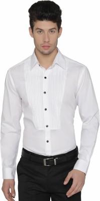 Dazzio Men Solid Party Spread Shirt
