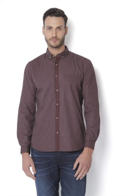 Urban Scottish Men's Solid Casual Button Down Shirt