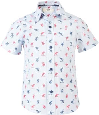 WYW Boys Printed Casual Spread Shirt
