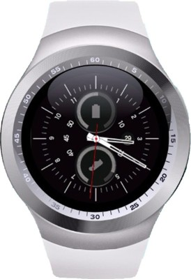 Medulla MED Y1-27 Fitness Silver Smartwatch(White, Strap, Regular) 1