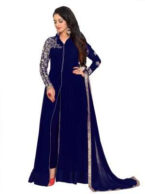 YOYO Fashion Georgette Embroidered Semi-stitched Salwar Suit Dupatta Material Flipkart