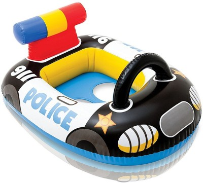 skky bell kiddie float water fun police car shape flote for (age 3 to 10) kids best gift Inflatable Pool Accessory(black)  available at flipkart for Rs.699