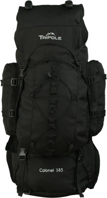 Tripole Colonel (With Detachable Day Pack) Rucksack  - 85 L(Black)