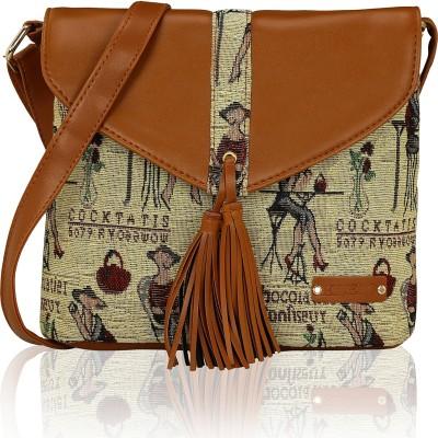 1fede2afca9 57% OFF on Kleio Women Multicolor Canvas Sling Bag on Flipkart ...