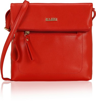 261a21210 56% OFF on Kleio Women Red PU Sling Bag on Flipkart