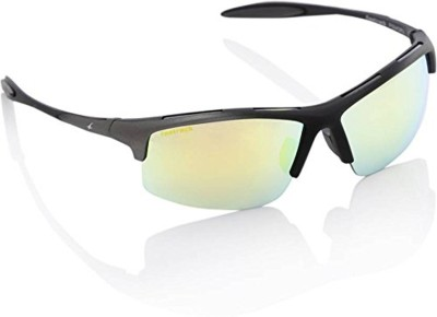 Fastrack Sports Sunglasses(Yellow, Silver)  available at flipkart for Rs.1299