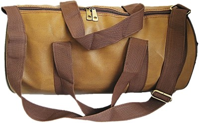 7b1328c01a 65% OFF on Muccasacra Small weekender Duffle Gym Bag with 3 compartments  Caramel Brown) Gym Bag(Brown) on Flipkart