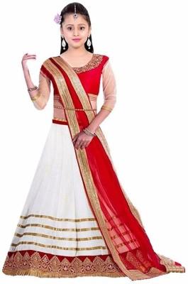 a0ecb67ad9c 63% OFF on MF Retail Girl s Lehenga Choli Ethnic Wear Embroidered Lehenga