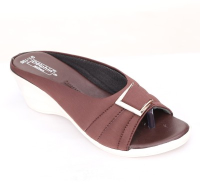 Dolphin Miles Women Brown Wedges