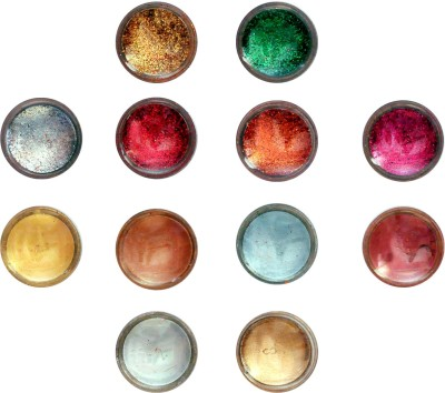 Vozwa Eye Face Shimmer Powder and Glitter Powder (Pack of 12 Pcs)(Multi Color)  available at flipkart for Rs.110