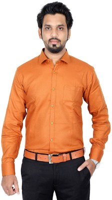 black n white Men Solid Formal Shirt